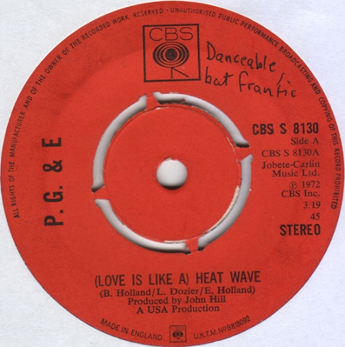 (Love Is Like A) Heat Wave.P,G&E
