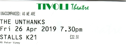 Unthanks ticket