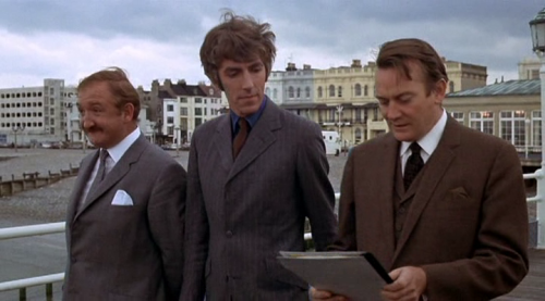 Ronald Fraser, Peter Cook and Denholm Elliott - The Rise and Rise of Michael Rimmer (1970) Worthing