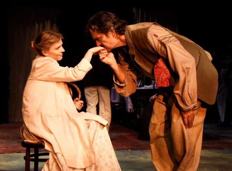 Rupert Everett as Uncle Vanya. Clémence Poésy as Yelena