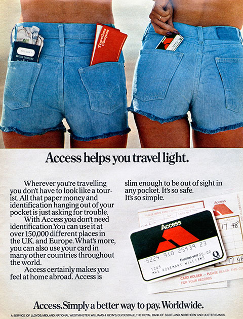 Access credit card advert, 1970s.