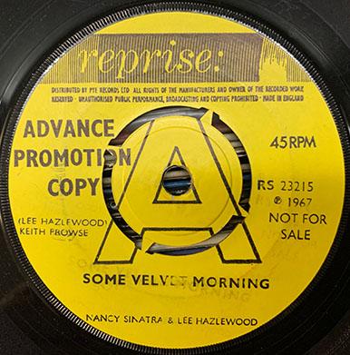 Some Velvet Morning advance copy