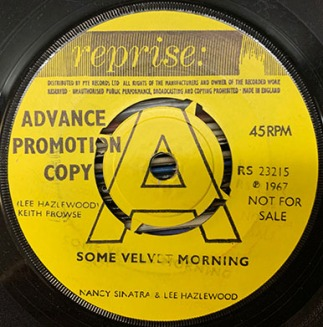 Some Velvet Morning advance copy