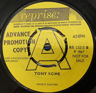 Tony Rome advance copy