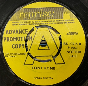 Tony Rome advance copy