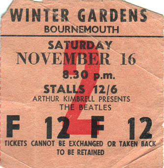 Beatles ticket copy