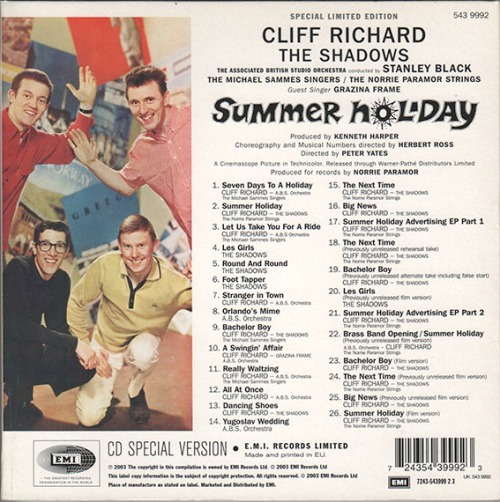 Summer Holiday40th CD rear copy